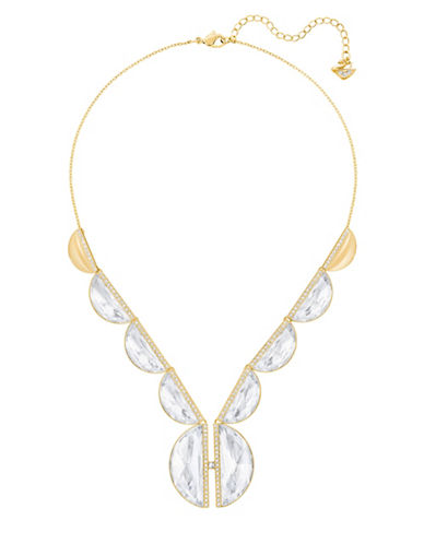 Swarovski Glow Crystal Goldplated Pendant Necklace-GOLD-One Size