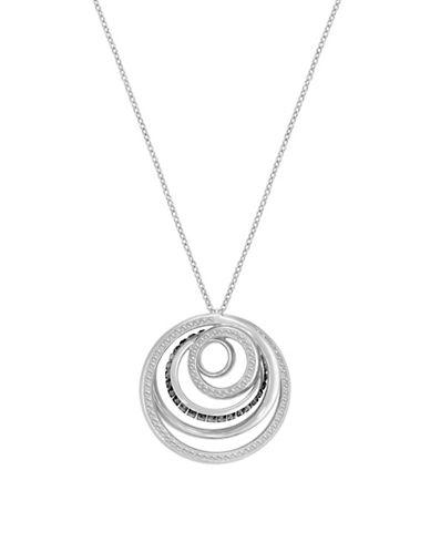 Swarovski Dynamic Crystal Rhodium-Plated Orbital Pendant Necklace-CRYSTAL-One Size