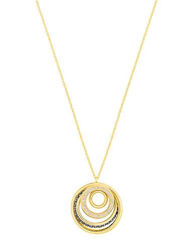 Swarovski Dynamic Crystal Goldplated Pendant Necklace-GOLD-One Size