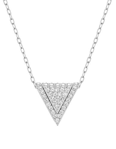 Swarovski Delta Crystal Rhodium-Plated Three-in-One Pendant Necklace-CRYSTAL-One Size