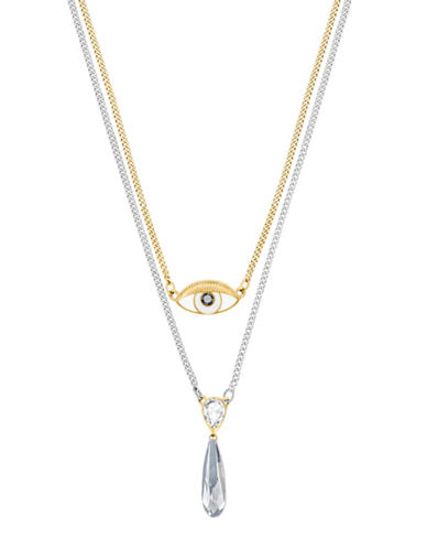 Swarovski Gipsy Crystal Two-Tone Layered Pendant Necklace-TWO TONE-One Size