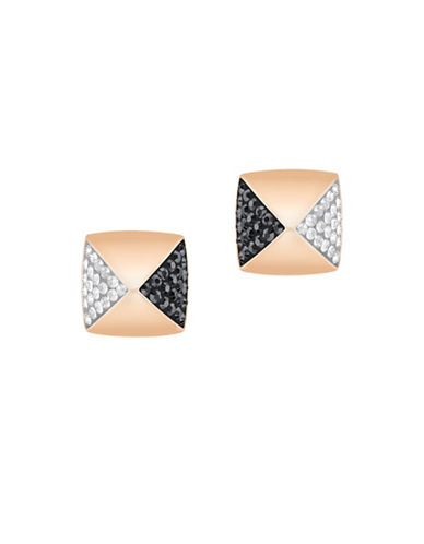 Swarovski Glance Crystal Rose Goldplated Pointiage Stud Earrings-ROSE GOLD-One Size