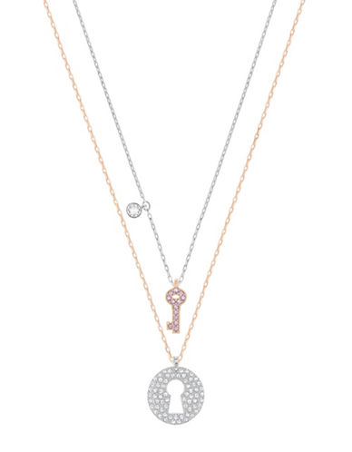 Swarovski Crystal Wishes Key Pendant Necklaces-CRYSTAL-One Size