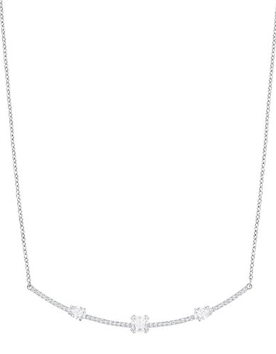 Swarovski Crystal Rhodium-Plated Necklace-SILVER-One Size