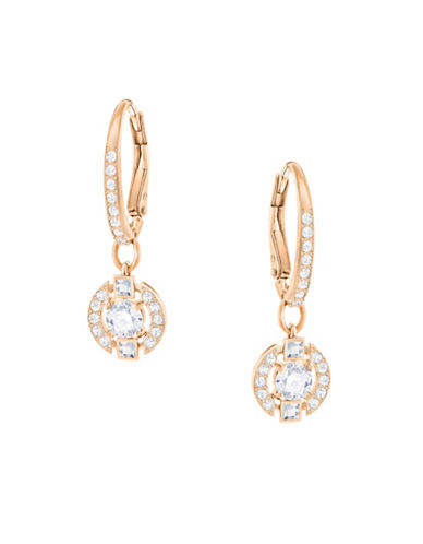 Swarovski Sparkling Dance Crystal Rose Goldplated Round Earrings-ROSE GOLD-One Size