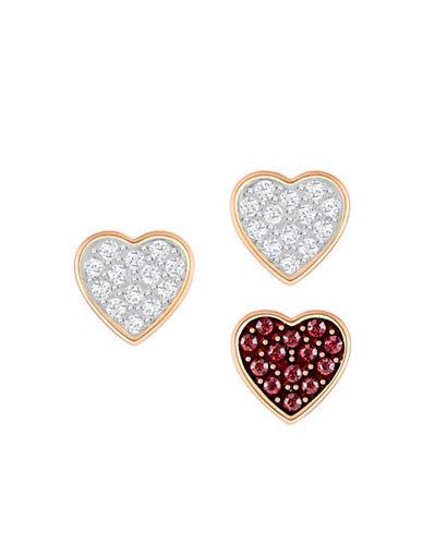 Swarovski Three-Piece Crystal Wishes Pierced Earrings Set-RED-One Size