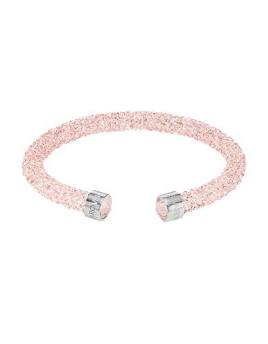 Swarovski Crystaldust Stainless Steel Cuff Bracelet-PINK-One Size
