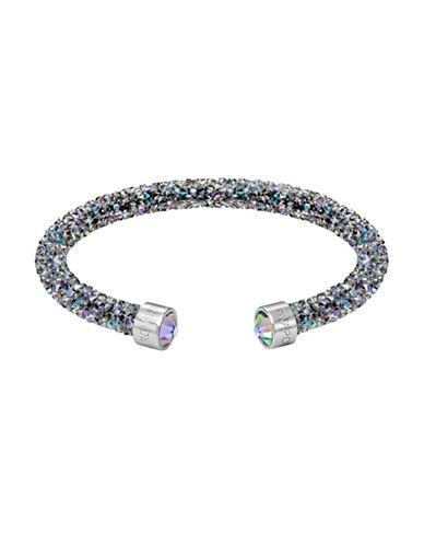 Swarovski Crystaldust Stainless Steel Cuff Bracelet-BLACK-One Size