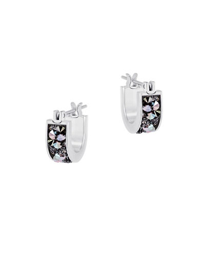 Swarovski Crystaldust Crystal and Stainless Steel-Plated Earrings-GREY-One Size