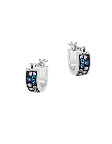 Swarovski Crystaldust Crystal and Stainless Steel Earrings-BLUE-One Size