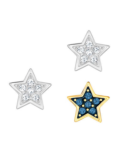 Swarovski Set of Three Crystal Wishes Star Stud Earrings-ASSORTED-One Size
