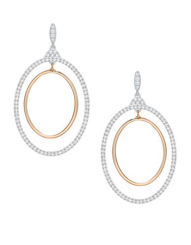 Swarovski Crystal Rose Goldplated Gilberte Hoop Earrings-ROSE GOLD-One Size