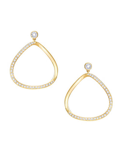 Swarovski Crystal Pave and Goldplated Gaya Earrings-GOLD-One Size