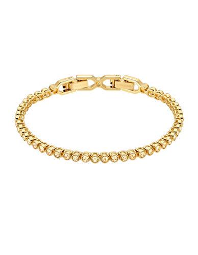 Swarovski Emily Goldplated Tennis Bracelet-GOLD-One Size