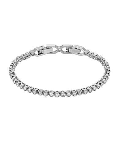Swarovski Emily Silvertone Tennis Bracelet-GREY-One Size