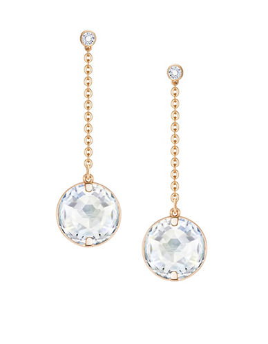Swarovski Globe Crystal Rose Goldplated Drop Earrings-ROSE GOLD-One Size