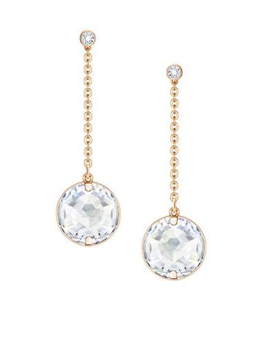Swarovski Globe Crystal Rose Goldplated Drop Earrings-ROSE GOLD-One Size