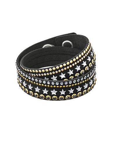 Swarovski Slake Stars Crystal Bracelet-BLACK-One Size