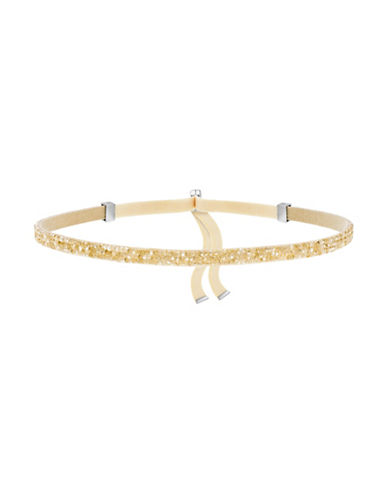 Swarovski Crystaldust Gold Crystal Choker-GOLD-One Size
