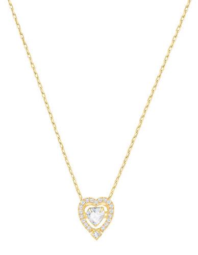 Swarovski Sparkling Dance Heart Crystal Goldplated Pendant Necklace-GOLD-One Size