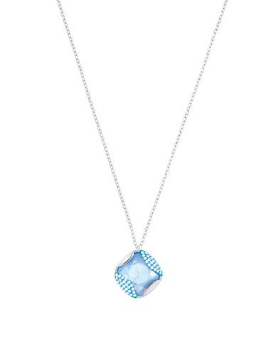 Swarovski Crystal Heap Pendant Necklace-SILVER-One Size