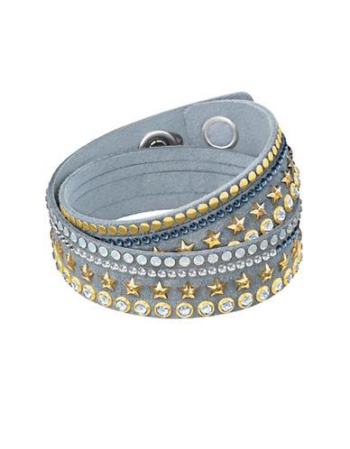 Swarovski Slake Stars Crystal Wrap Bracelet-GREY-One Size