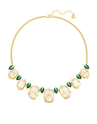 Swarovski Crystal Haven Frontal Necklace-GOLD-One Size