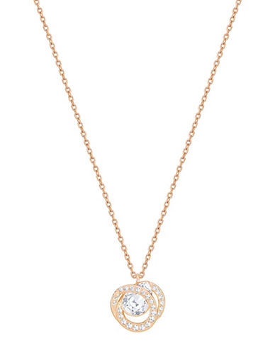 Swarovski Generation Pear Crystal Rose Goldplated Pendant Necklace-ROSE GOLD-One Size