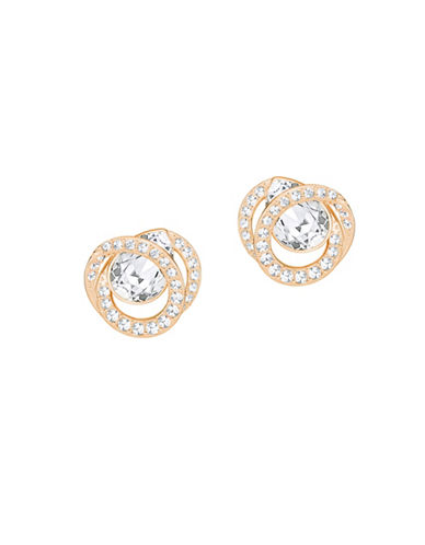 Swarovski Generation Pear Crystal Rose Goldplated Earrings-ROSE GOLD-One Size