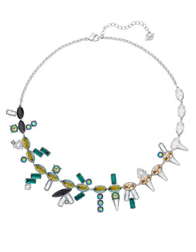 Swarovski Helen Stacked Swarovski Crystal Necklace-GREEN-One Size