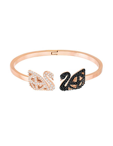 Swarovski Pave Swan Bangle-ROSE GOLD-One Size