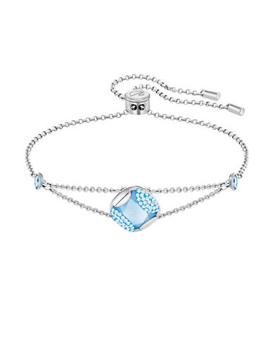 Swarovski Crystal Heap Cushion Bracelet-SILVER-One Size