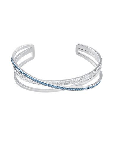 Swarovski Crystal Hero Cuff Bracelet-SILVER-One Size