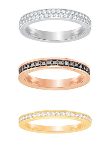 Swarovski Hint Trio Ring Set-ROSE GOLD-One Size