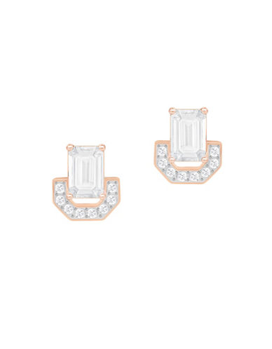 Swarovski Gallery Square Crystal Rose Gold-Plated Earrings-ROSE GOLD-One Size