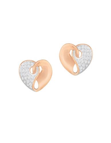 Swarovski Guardian Crystal Rose Goldplated Stud Earrings-ROSE GOLD-One Size