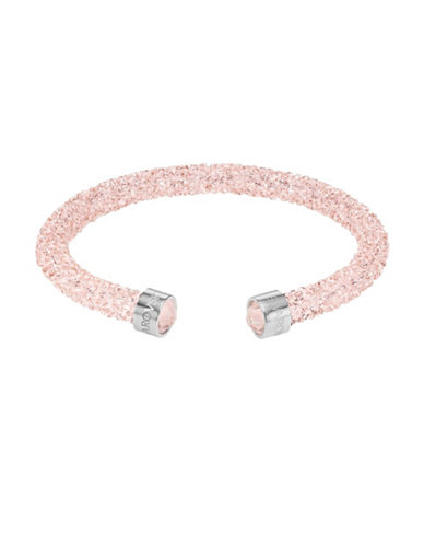 Swarovski Crystaldust Rose Pink Crystal and Stainless Steel Cuff-PINK-One Size