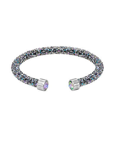 Swarovski Crystaldust Paradise Shine Crystal and Stainless Steel Cuff-GREY-One Size