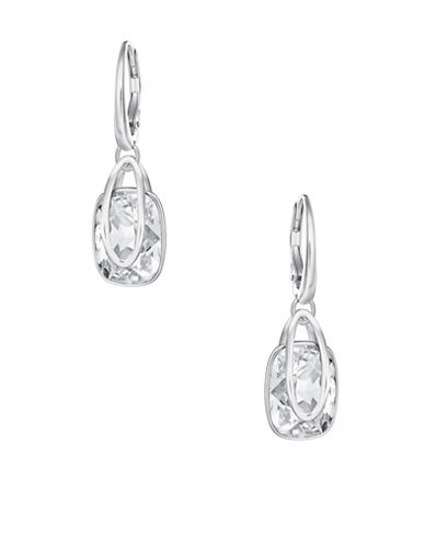 Swarovski Crystal Holding Earrings-SILVER-One Size