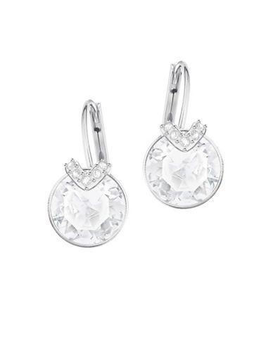 Swarovski Bella V Silvertone Drop Earrings-SILVER-One Size
