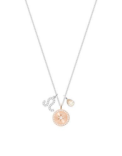 Swarovski Zodiac Pavé Crystal Leo Pendant Necklace-SILVER-One Size