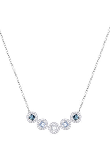 Swarovski Angelic Multicolour Crystal Frontal Necklace-SILVER-One Size