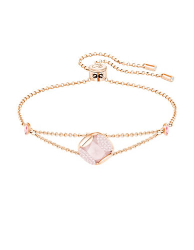 Swarovski Crystal Heap Cushion Bracelet-ROSE GOLD-One Size