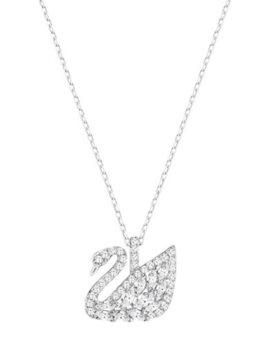 Swarovski Swan Lake Swarovski Crystal Rhodium-Plated Pendant Necklace-SILVER-One Size