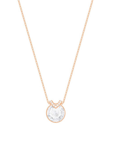 Swarovski Pave Bella V Pendant Necklace-ROSE GOLD-One Size