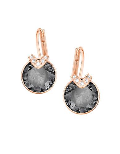Swarovski Bella V Grey Crystal Drop Earrings-ROSE GOLD-One Size