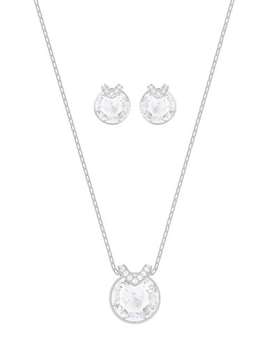 Swarovski Bella V Necklace and Earrings Set-SILVER-One Size