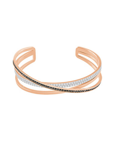 Swarovski Crystal Hero Cuff Bracelet-ROSE GOLD-One Size