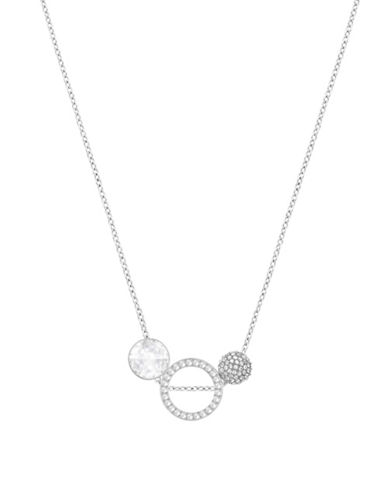Swarovski Hote Pendant Necklace-SILVER-One Size