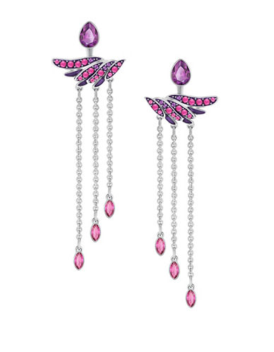Swarovski Hearty Crystal Stud Earrings-SILVER-One Size